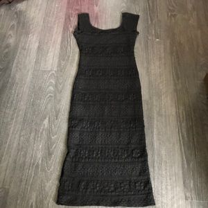 Long black slim lace beautiful dress size small
